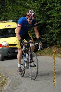 Velomediane 2007 - Overvågning på vej opad Col du Parc à Gibiers