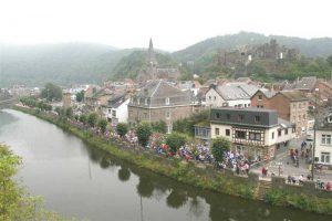 La-Roche-en-Ardennes, Belgien - Velomediane start område